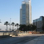 Looking from the Hotel Phoenicia up the beach to other new construction